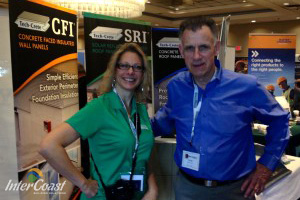 Darci Smart, Director of Marketing for Brock White Canada & John Riley, Owner InterCoast Building Solutions