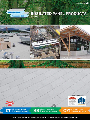 Tech-Crete Concrete Faced Insulated Wall & Roof Panels Spec Writer & Designer Resources